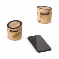 Wood speaker-charger