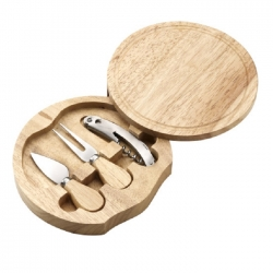 Wooden cheese set