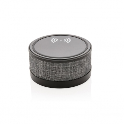 Fabric speaker with charger