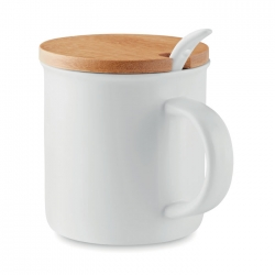 Mug with bamboo lid