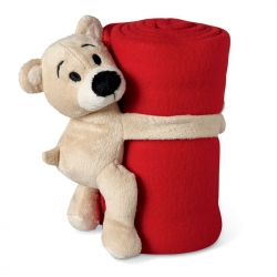 Fleece blanket with teddy