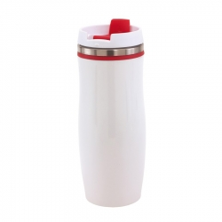 Double-walled travel mug